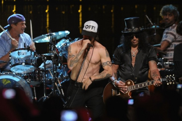 Red Hot Chili Peppers (and Slash!) / Photo by Getty Images
