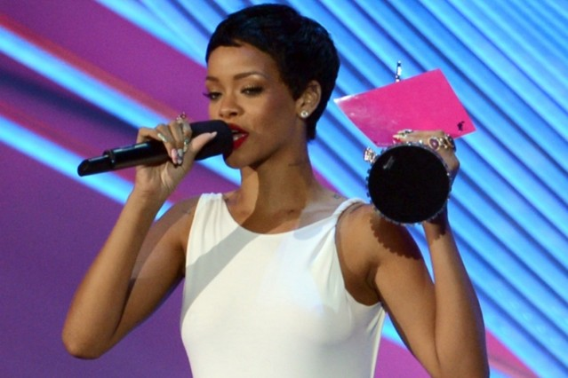 Rihanna at the VMAs / Photo by Getty Images