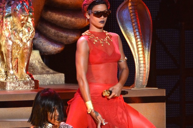Rihanna at the VMAs / Photo by Getty Images