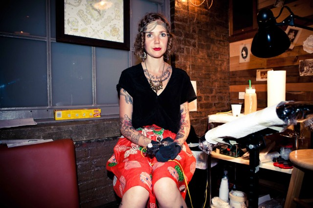 Pamela Love - Tattoo Parlor at Milk Studios / Photo by Atisha Paulson