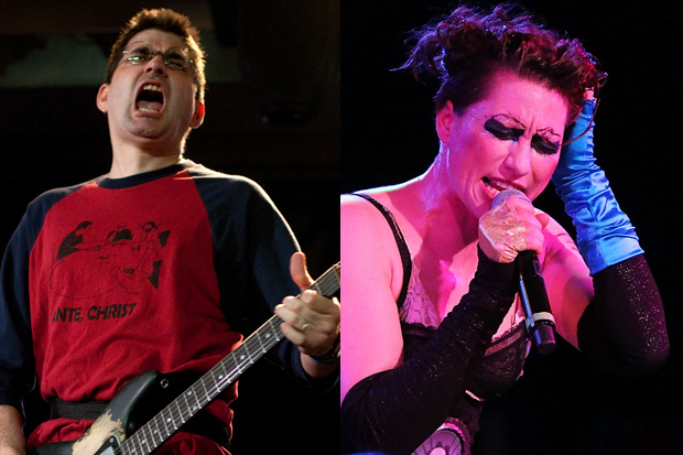 Steve Albini and Amanda Palmer / Photos by Getty Images