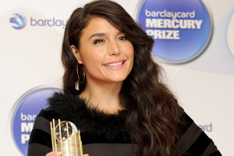Jessie Ware holding (gasp!) another British award / Photo by Getty Images