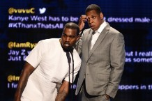 Kanye West and Jay-Z at BET's last show / Photo by Getty Images