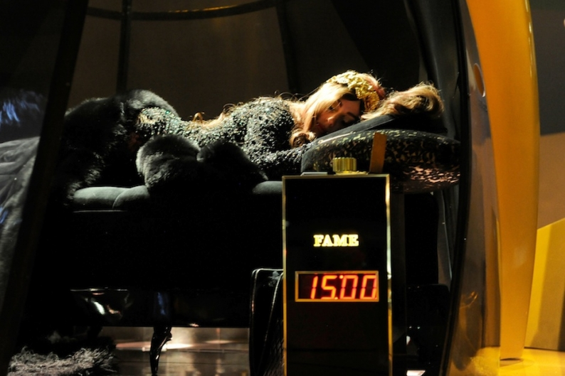 """Lady Gaga """"sleeps"""" at the Guggenheim / Photo by Getty Images"""
