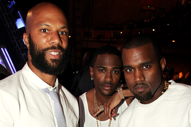 Common, Big Sean, and Kanye West/ Photo by Johnny Nunez/WireImage