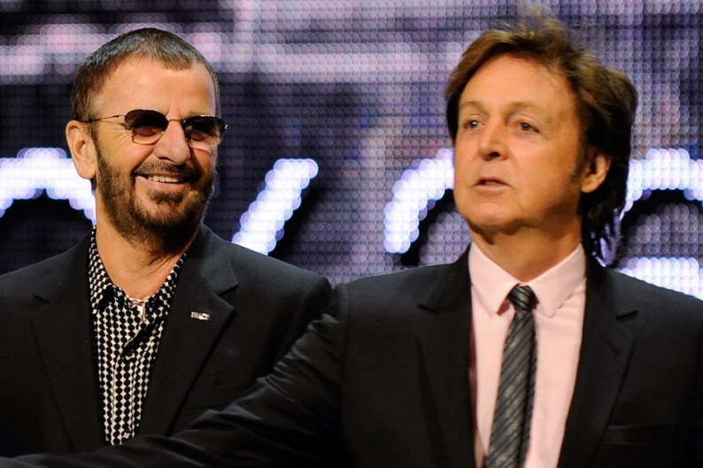 ringo starr paul mccartney american pop music hall of fame