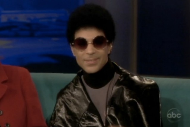 Prince goes on The View with a fro