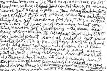 Charles Manson writes letter to Marilyn Manson