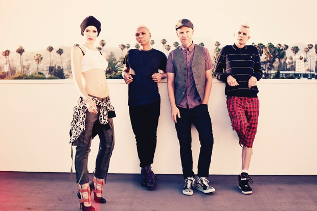 No Doubt's Gwen Stefani, Tony Kanal, Tom Dumont, and Adrian Young