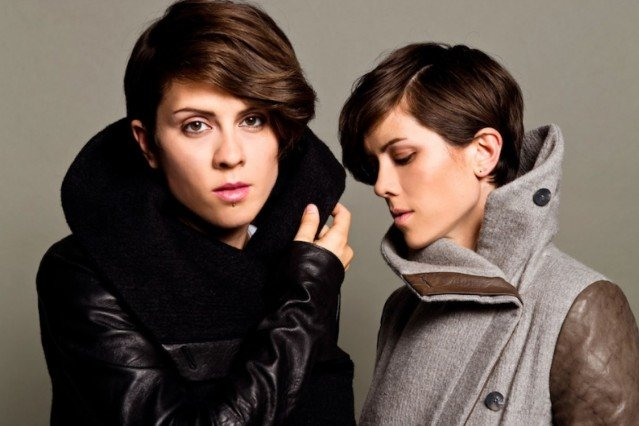 Tegan and Sara, your potential bus-hang buddies! / Photo by Lindsey Byrnes