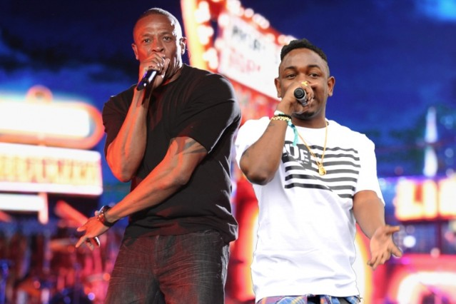 Dr. Dre and Kendrick Lamar (edit) / Photos by Getty Images