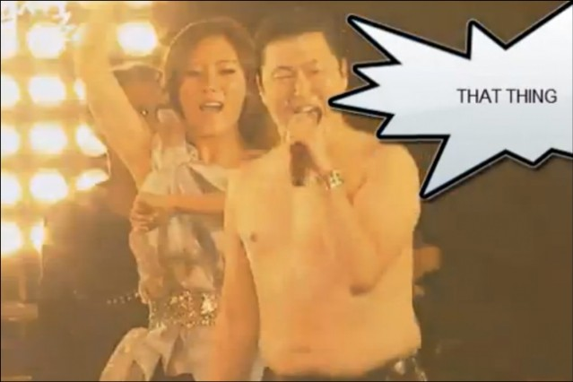 PSY Gangnam Style topless Korea