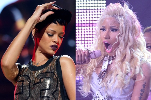 rihanna nicki minaj american music awards nominations 2012