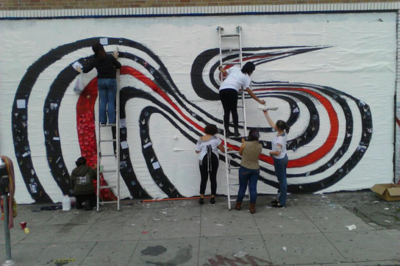 Elliott smith s figure 8 mural inventively restored in for Elliott smith mural