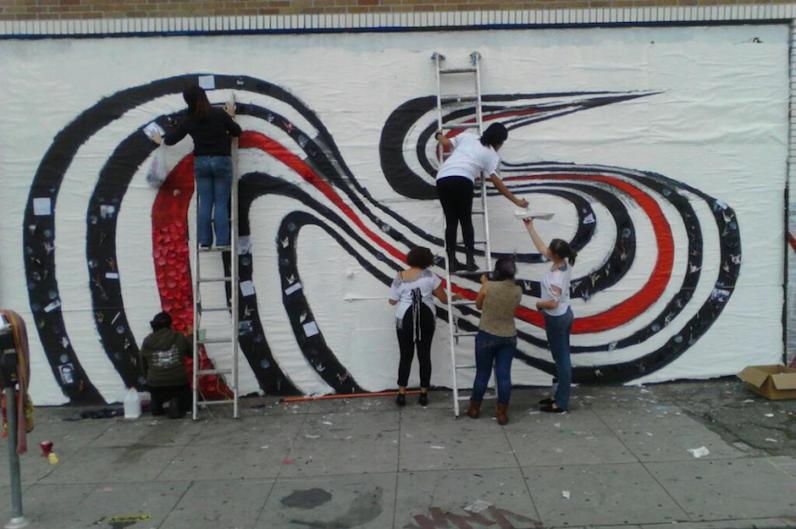 'Figure 8' mural restored