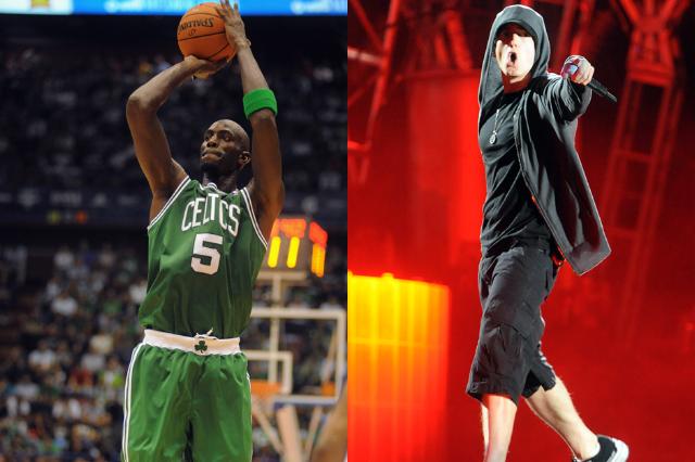 9. Kevin Garnett (Boston Celtics) is Eminem (Shady/Aftermath)