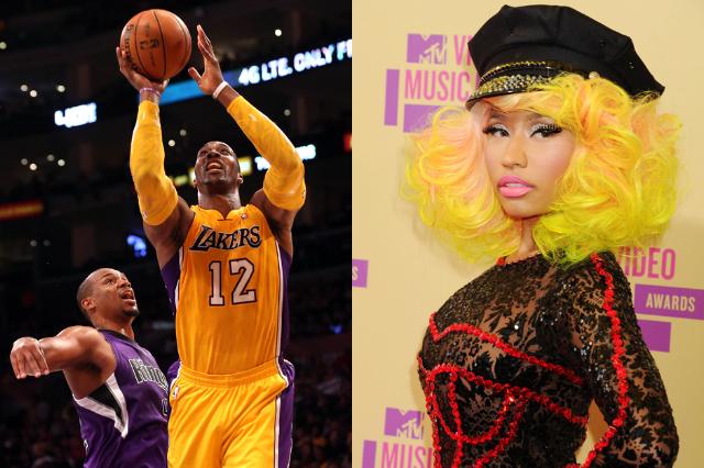 4. Dwight Howard (Los Angeles Lakers) is Nicki Minaj (Young Money/Cash Money/Universal Republic)