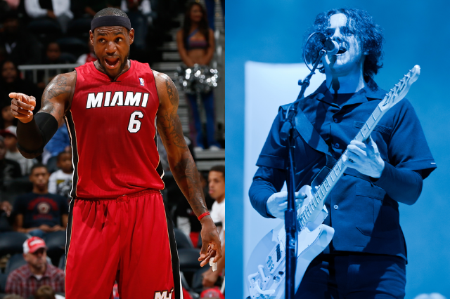 1. LeBron James (Miami Heat) is Jack White (Third Man)