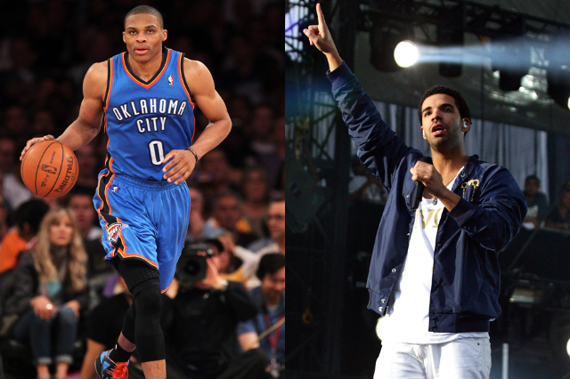12. Russell Westbrook (Oklahoma City Thunder) is Drake (Cash Money/Young Money/Universal Republic)