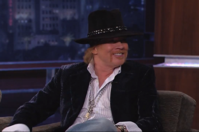 Axl Rose on 'Jimmy Kimmel Live!'