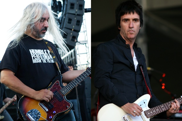 J Mascis and Johnny Marr / Photos by Nathaniel Wood and Getty Images