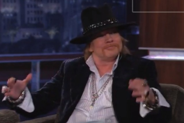 Axl Rose on 'Kimmel'