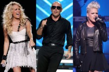 carrie underwood pitbull pink american music awards 2012 performers
