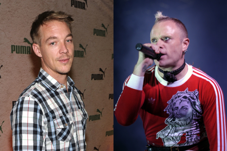 Major Lazer's Diplo and the Prodigy's Keith Flint