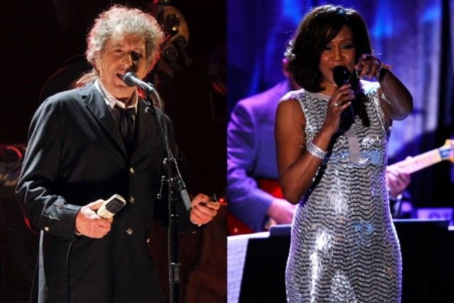 bob dylan, whitney houston, grammy hall of fame