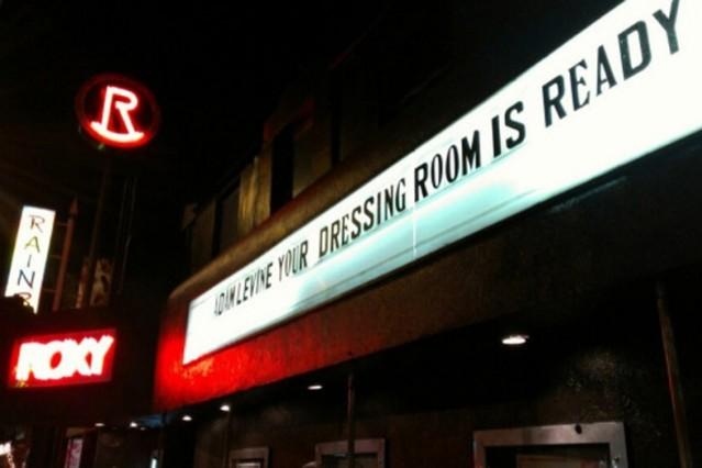 roxy theatre adam levine dressing room
