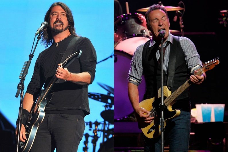 dave grohl, bruce springsteen, 12-12-12