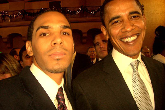 Al Walser and Barack Obama in 2007