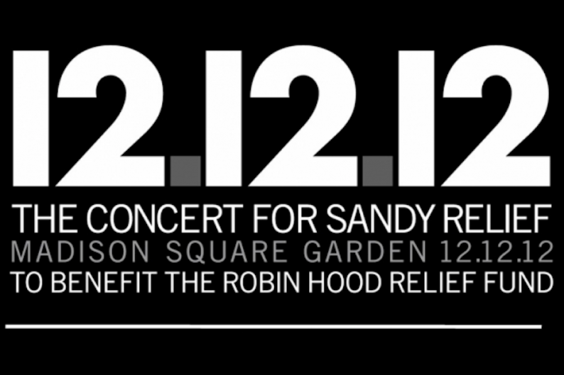12.12.12. Sandy benefit