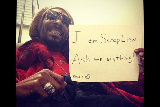 Snoop Dogg Lion Reddit AMA Weed Use Smoke Blunts