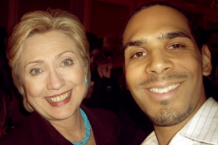 Al Walser and Hillary Clinton