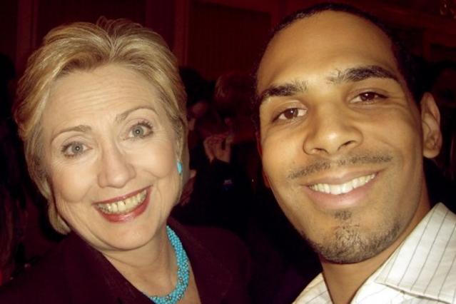Al Walser and Hillary Clinton
