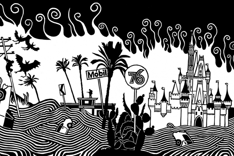 Atoms for Peace Mural Hollywood Doom Amok