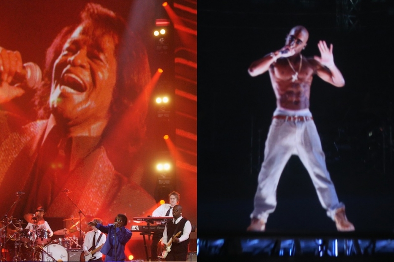 James Brown and Hologram 2Pac