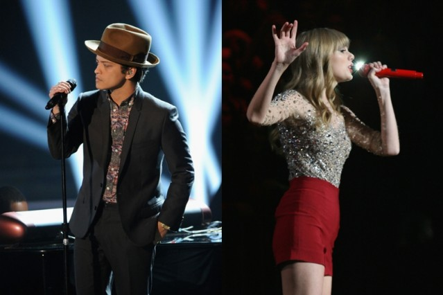 Bruno Mars Taylor Swift Billboard Charts Top 10 red locked out of heaven