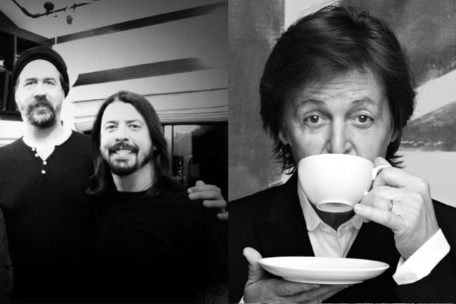 Krist Novoselic, Dave Grohl, and Paul McCartney