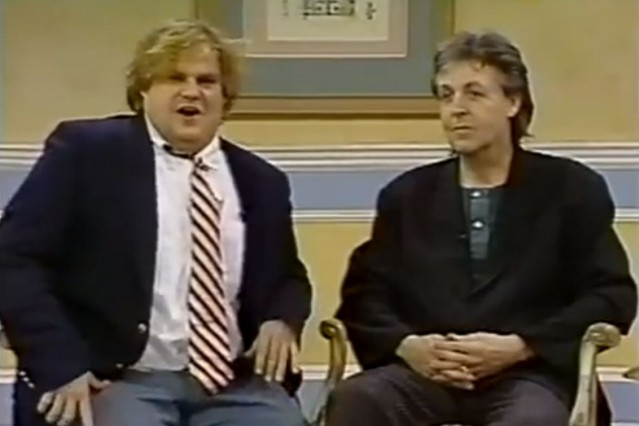 paul mccartney, saturday night live, chris farley, andy samberg