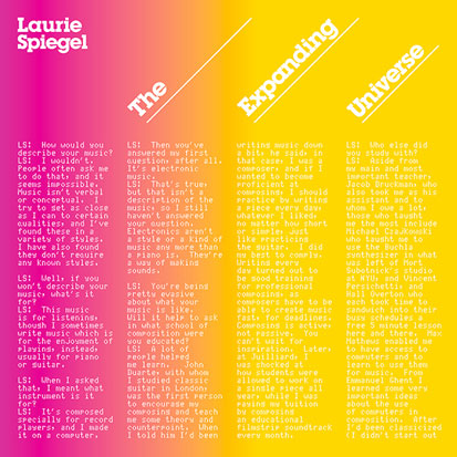 LAURIE SPIEGEL - <I>THE EXPANDING UNIVERSE</I> (UNSEEN WORLDS)