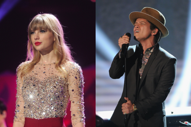 Taylor Swift and Bruno Mars