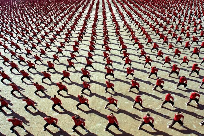 Martial arts academy in a still from 'Samsara'