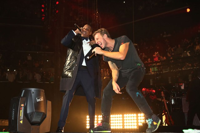 Jay-Z and Coldplay at Brooklyn's Barclays Center