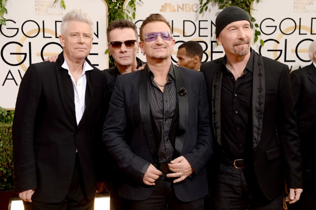 u2, golden globes, nelson mandela, ordinary love