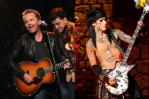 Christian singer Chris Tomlin vs. the guitarist for Black Veil Brides / Photos by Getty Images