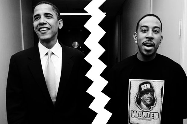 July 31, 2008: Obama severs ties with Ludacris after