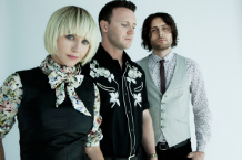 The Joy Formidable's Ritzy Bryan, Rhydian Dafydd, Matt Thomas / Photo by James Minchin