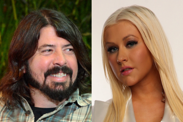 Dave Grohl and Christina Aguilera